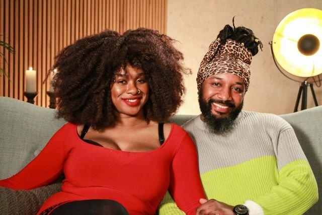 Zangeres Nathalie Makoma en Jean-Claude in 'Sex Tape'. Afbeelding via Discovery+