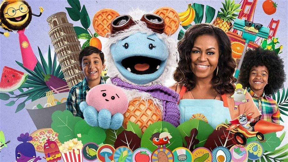 Trailer van Michelle Obama's Netflix-serie 'Wafeltje en Mochi' nu te zien