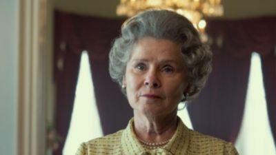 Netflix deelt eerste foto van Imelda Staunton als koningin Elizabeth II in seizoen 5 van 'The Crown'
